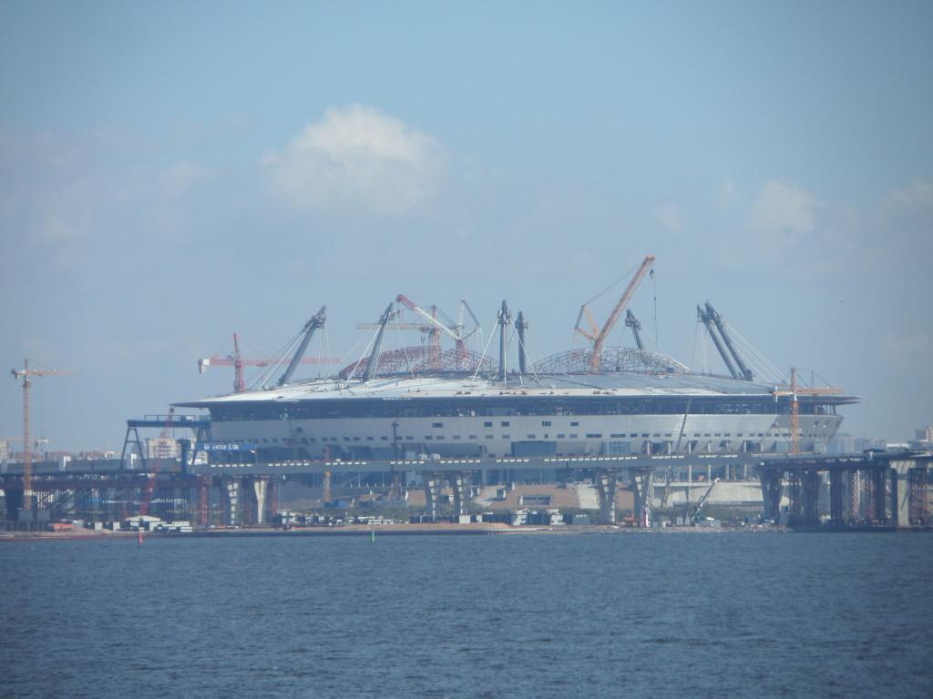 Neues Stadion vor St Petersburg