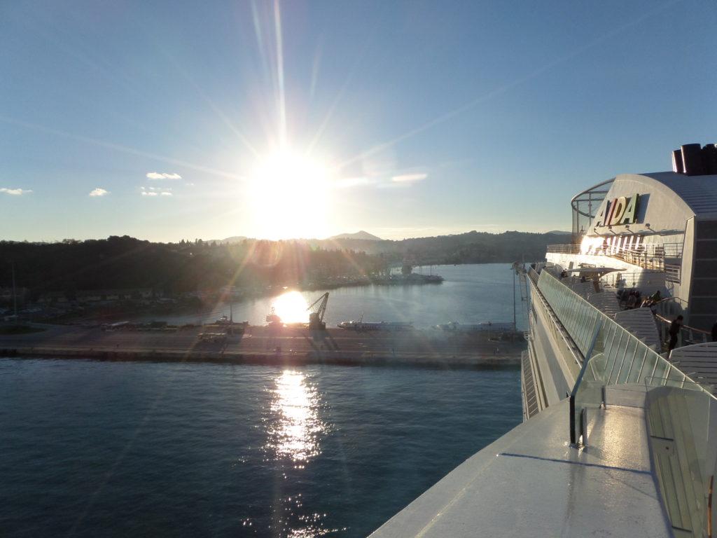 Hafen von Korfu auf der Insel korfu