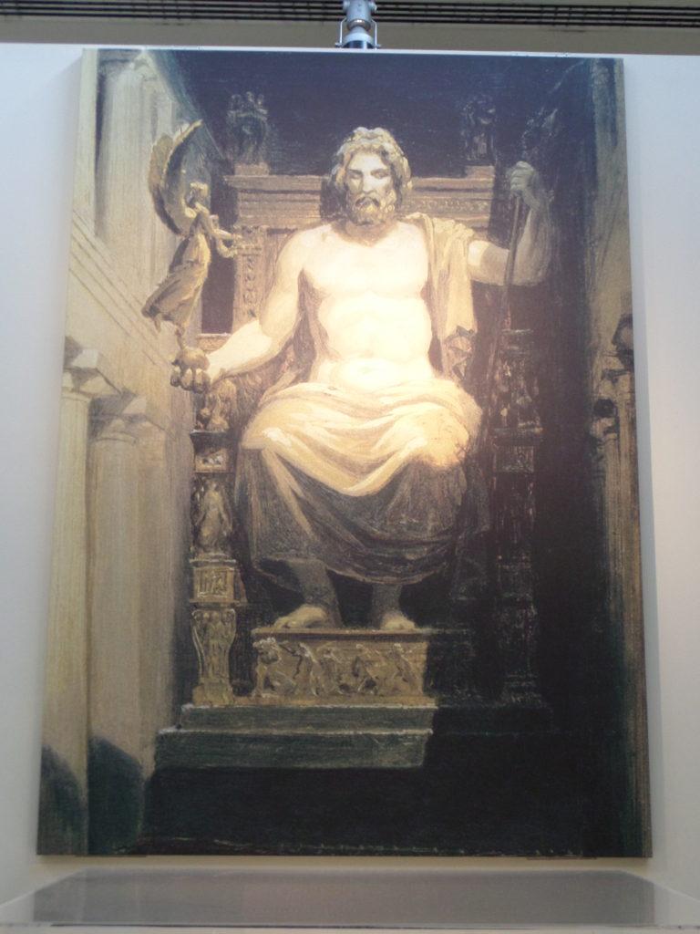 Götterstatue des Zeus' in Olympia
